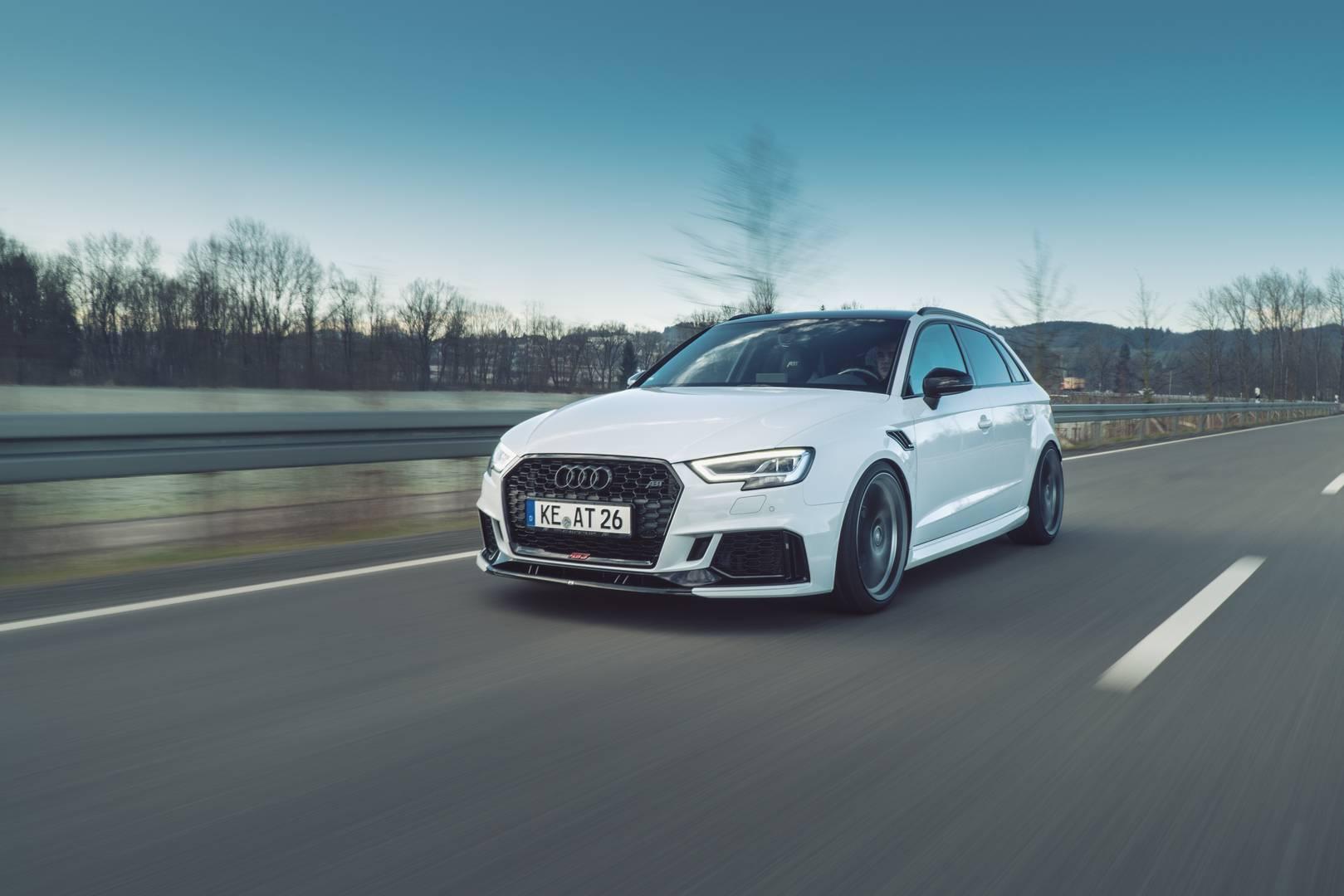 Audi RS 3 Sportback и RS 3 Sedan только недавно были выпущены. Пакет ABT Power R преобразует блок управления двигателем и добавляет несколько других обновления, включая систему выпуска, которая увеличивает мощность. В целом он производит 500 л.с., чт