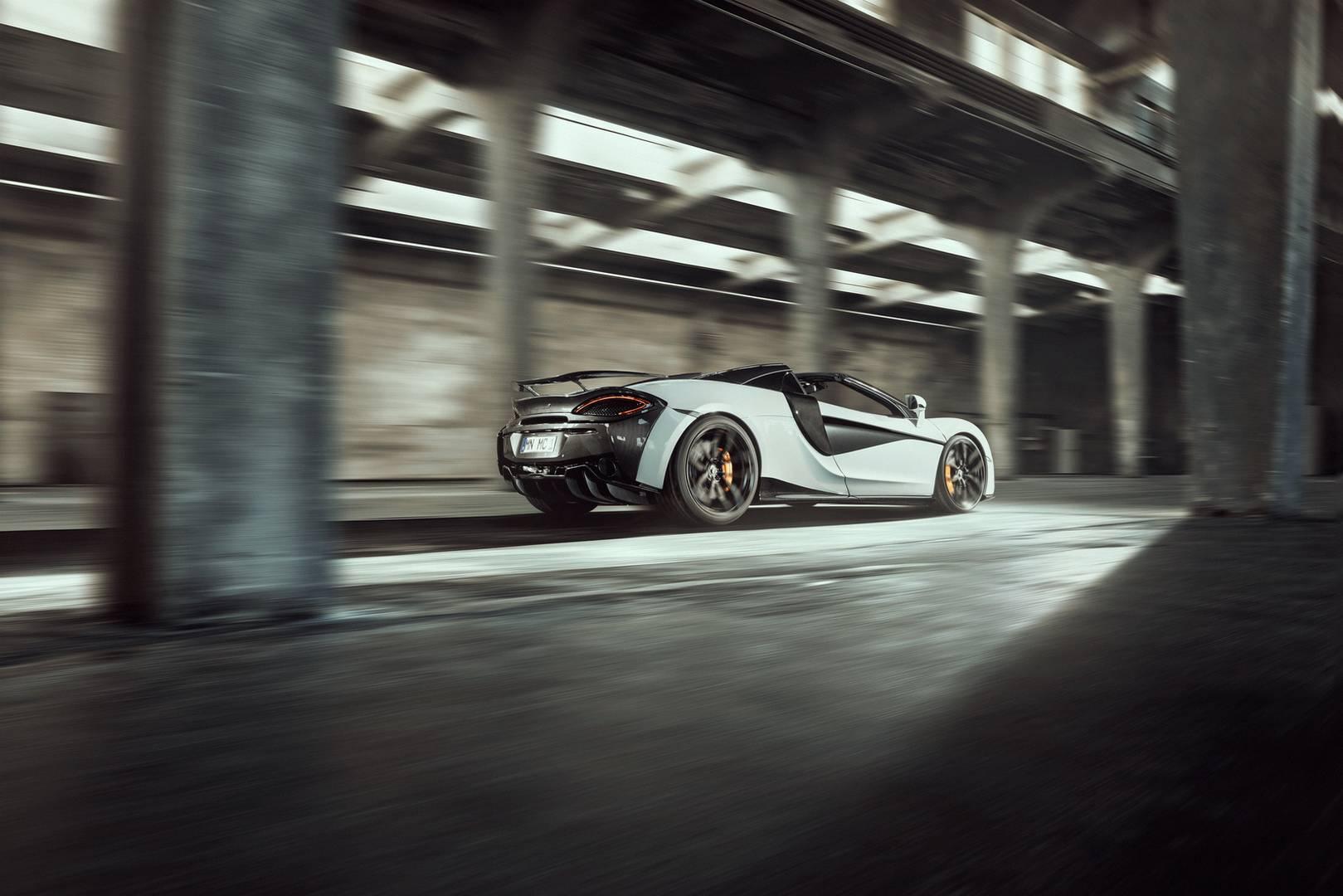 Здесь нет ничего особенного нового, поскольку он практически соответствует пакету, который Novitec предлагается для версии Coupe. Как один из наиболее успешных тюнинговых брендов, который работает с McLaren, Novitec ожидает огромный успех с 570S Spid