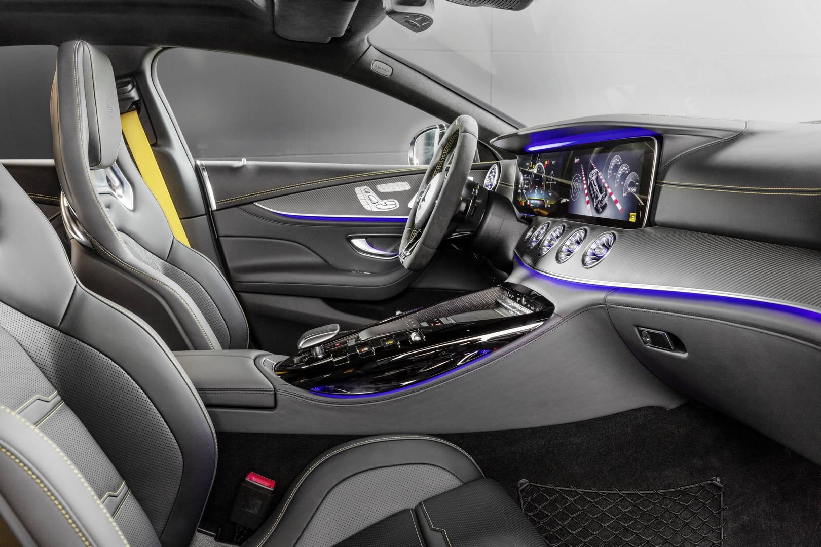 Ограниченный тираж модели доступен исключительно как Mercedes-AMG GT 63 S 4MATIC+, что означает, что он получает 4-литровый би-турбо V8 мощностью 639 л.с. Его максимальная скорость составляет 315 км/ч и разгон до 100 км/ч всего 3,2 секунды.