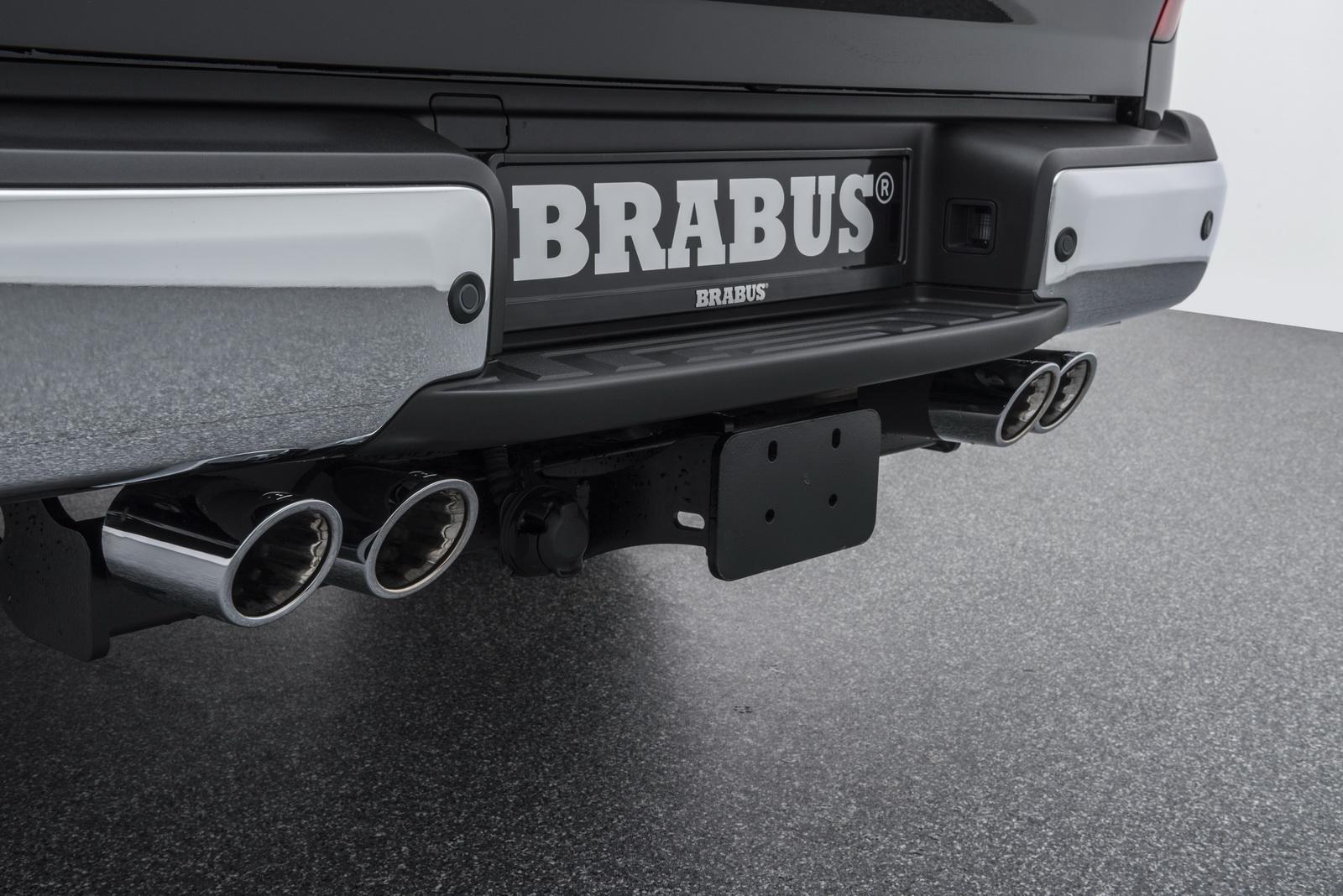Для Mercedes X 250d Brabus разработали систему увеличения производительности D4 PowerXtra, повысив мощность 2,3-литрового турбодизеля на 21 л.с. и 60 Нм крутящего момента.