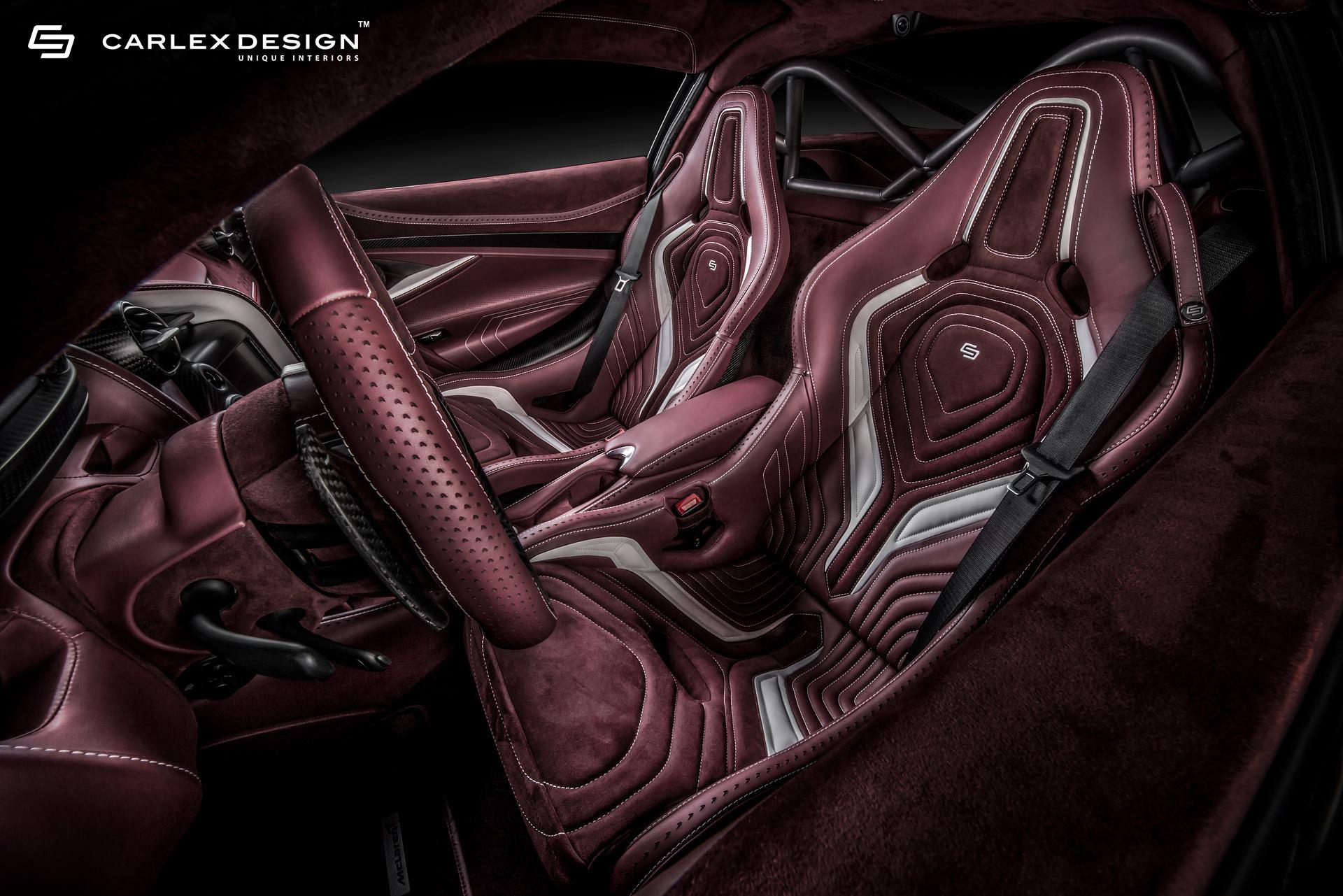720S McLaren получает темно-красный интерьер с невероятно сложной прострочкой.