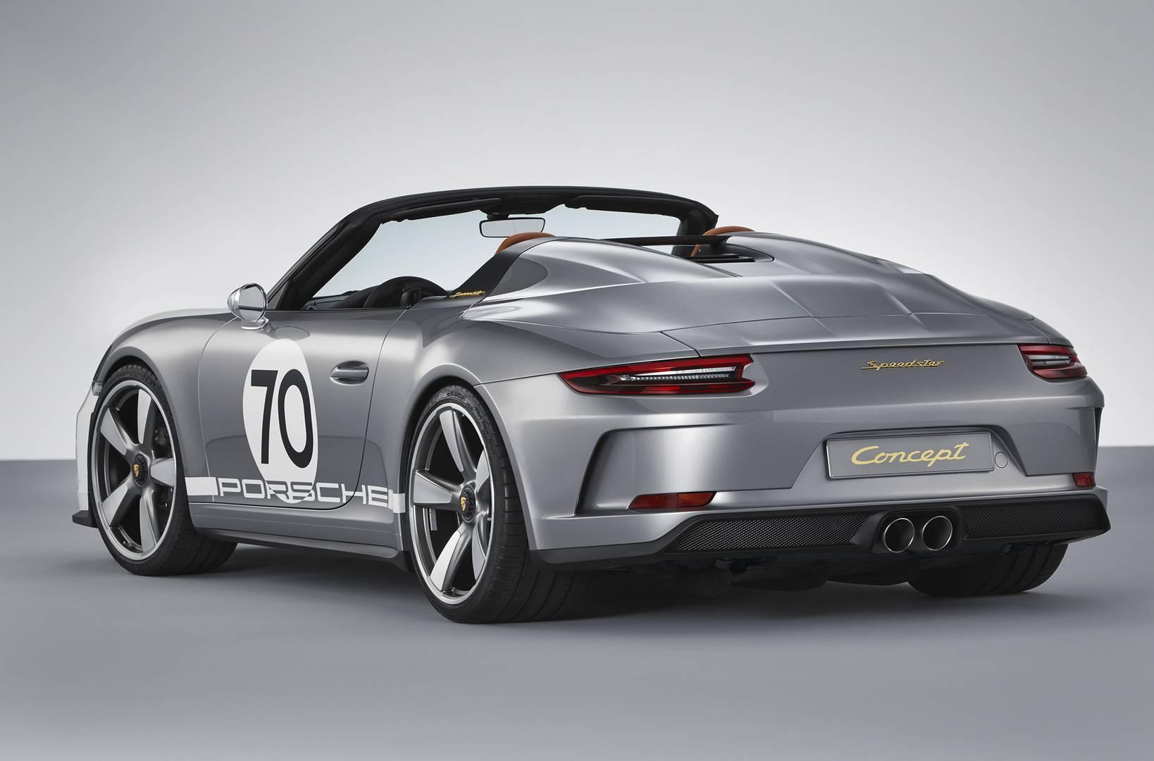 911 Speedster Concept получает легкую крышку вместо складного верха.