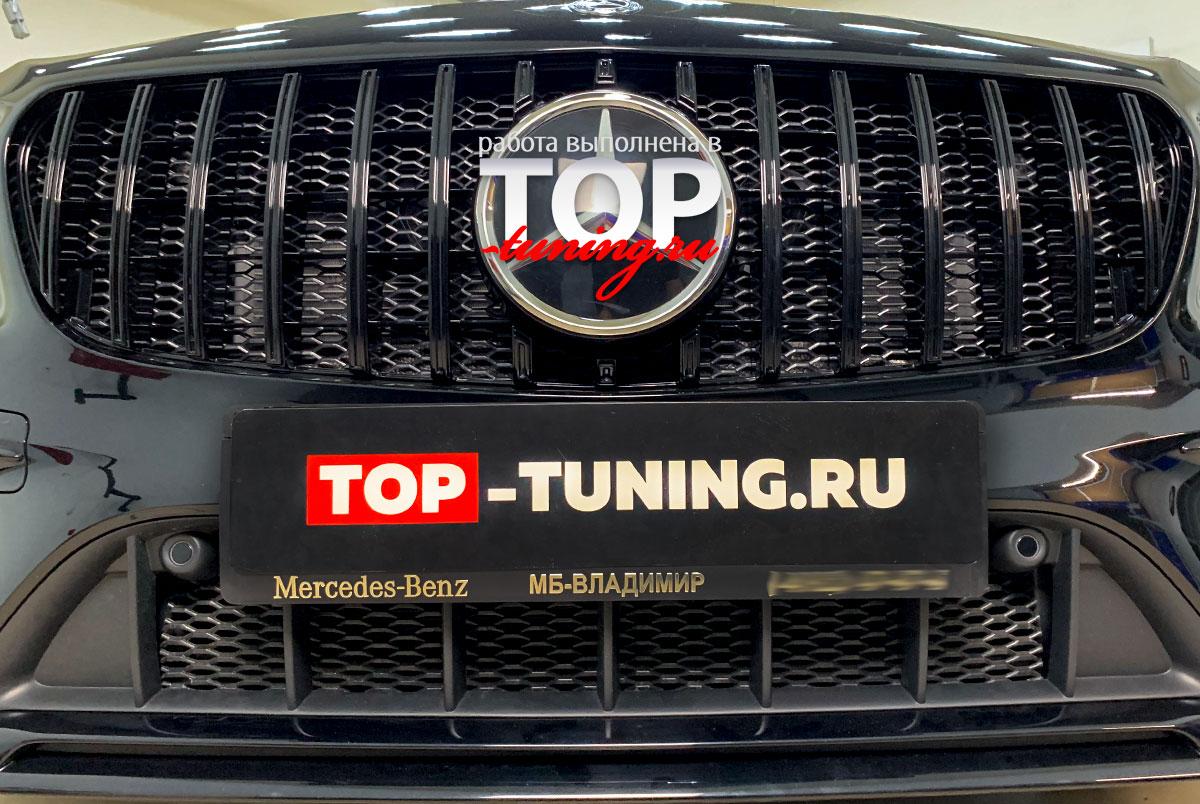 102821 Установка защитной сетки в передний бампер Mercedes GLA AMG