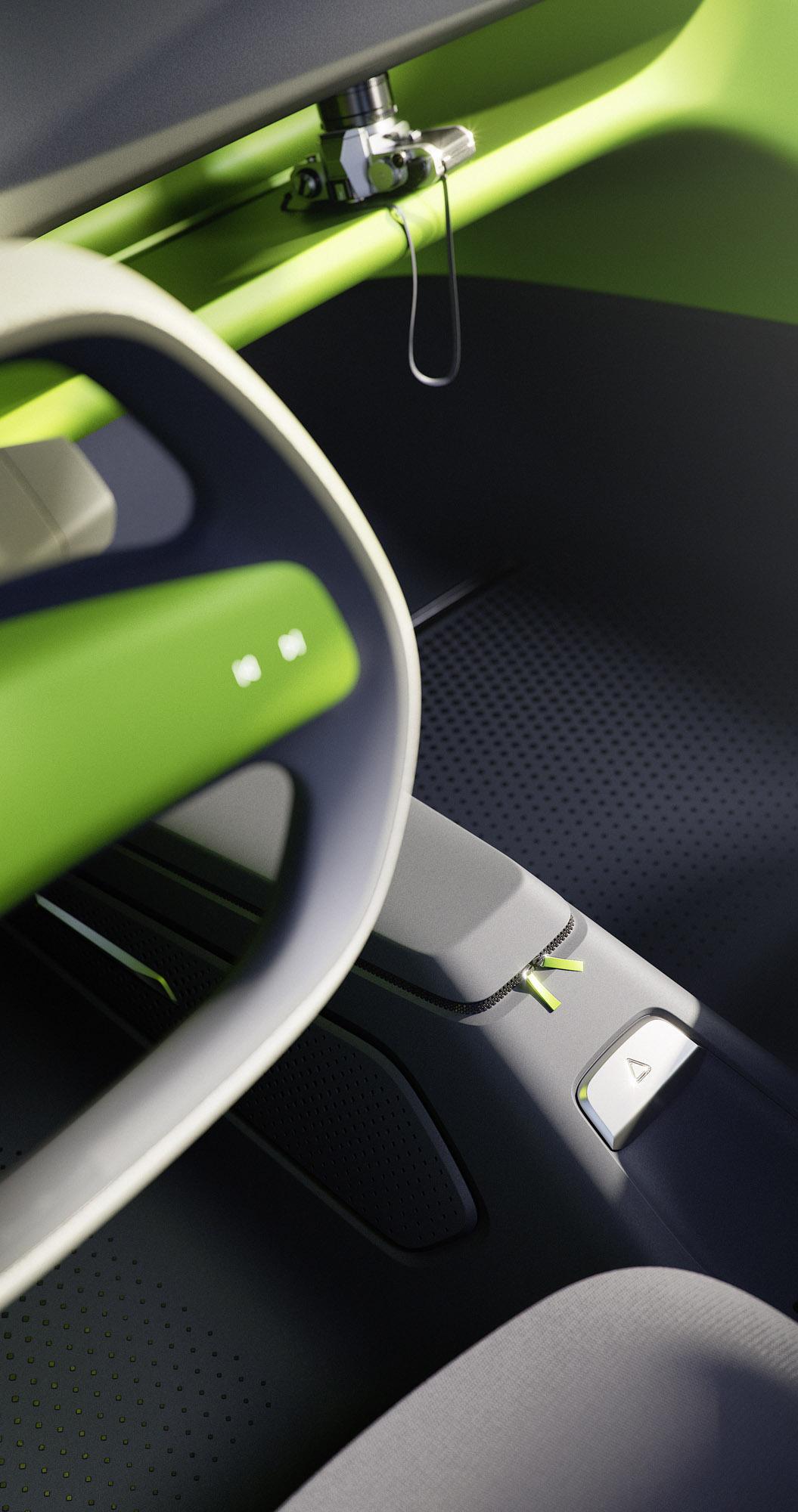 ID. BUGGY не нужна решетке радиатора, и все же автомобиль мгновенно узнаваем как машина VW. Поднимающийся капот, крылья и хвостовая часть напоминают внедорожник, в то время как овальные светодиодные фары и задние фонари 3D, логотип VW и кузов, кажетс