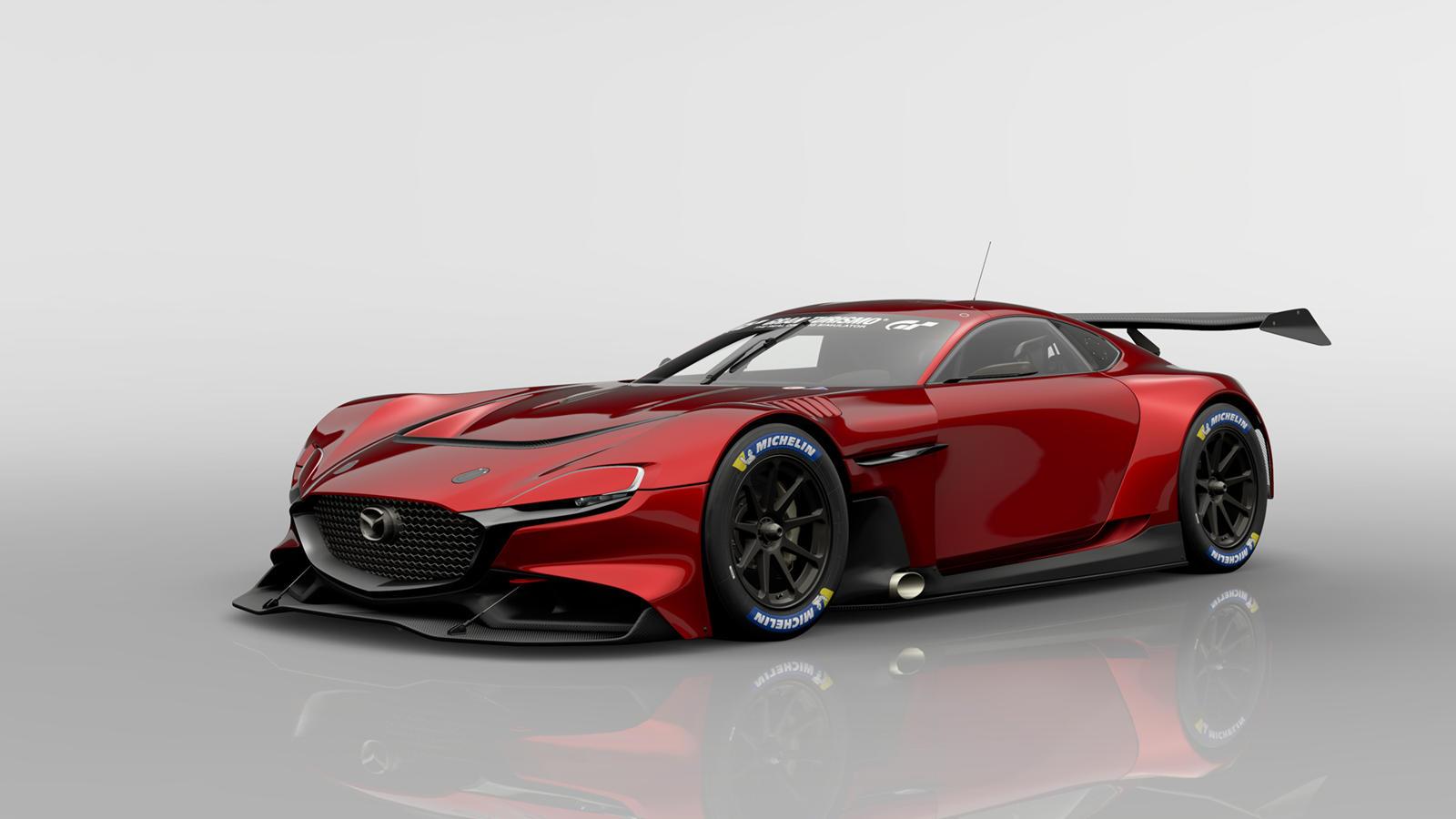 При весе всего 1230 кг, RX-Vision GT3 должен быть просто молниеносным! К сожалению, вся эта информация о движке предназначена только для игры. 2020 Mazda MX-30 является единственной реальной Mazda, которая использует роторный двигатель, но использует