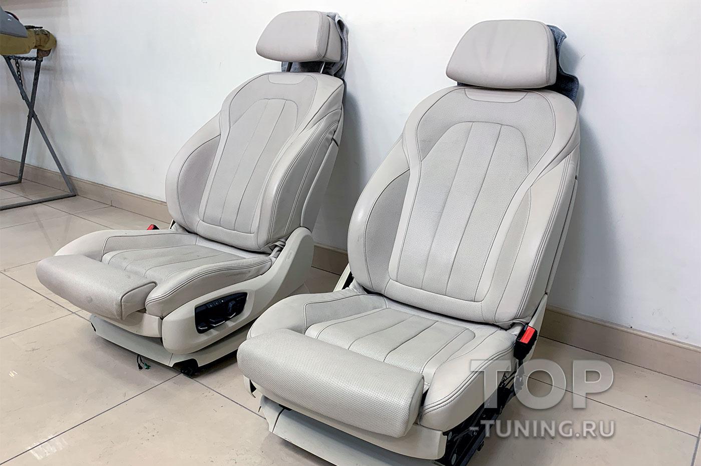 Восстановление кожи на сидениях водителя и пассажира
