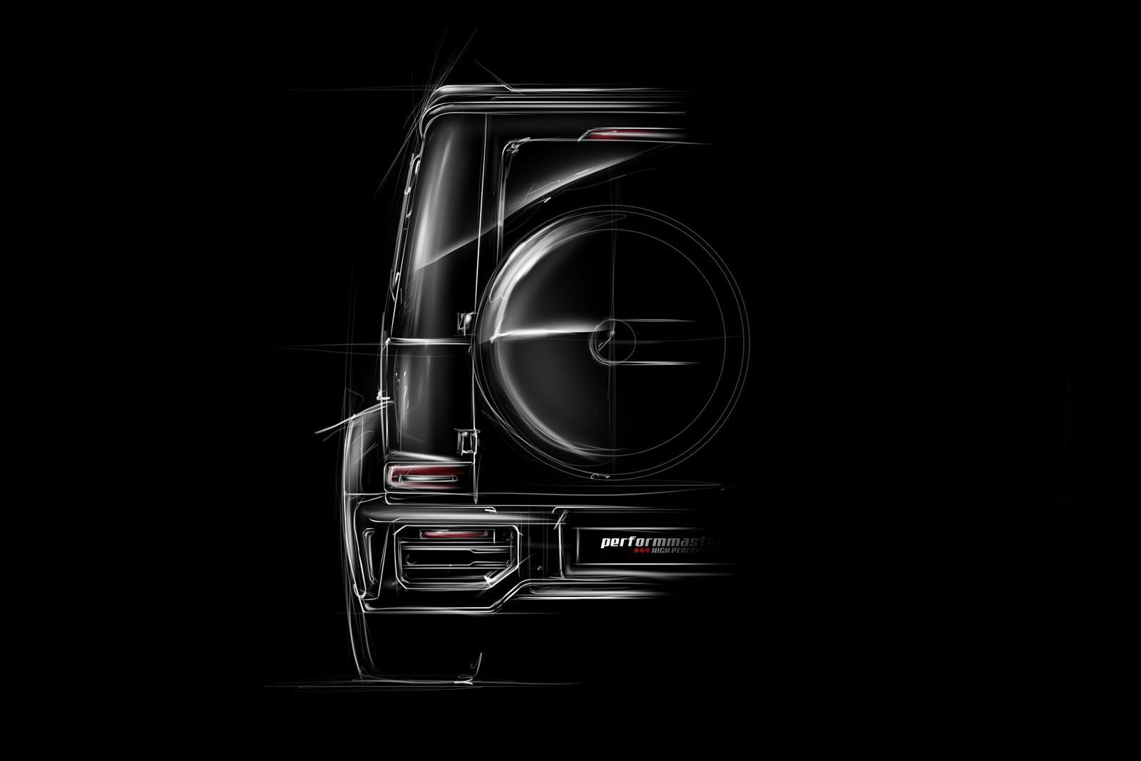 Для покупателей, которые хотят похвастаться большим потенциалом производительности своего G63, Performmaster также предлагает свой собственный комплект расширения кузова.