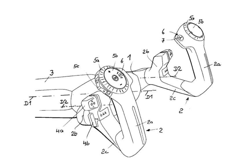 Идея BMW кажется довольно сложной, с U-образными рукоятками, в которые встроены сигналы поворота, выбор режима движения и другие функции.