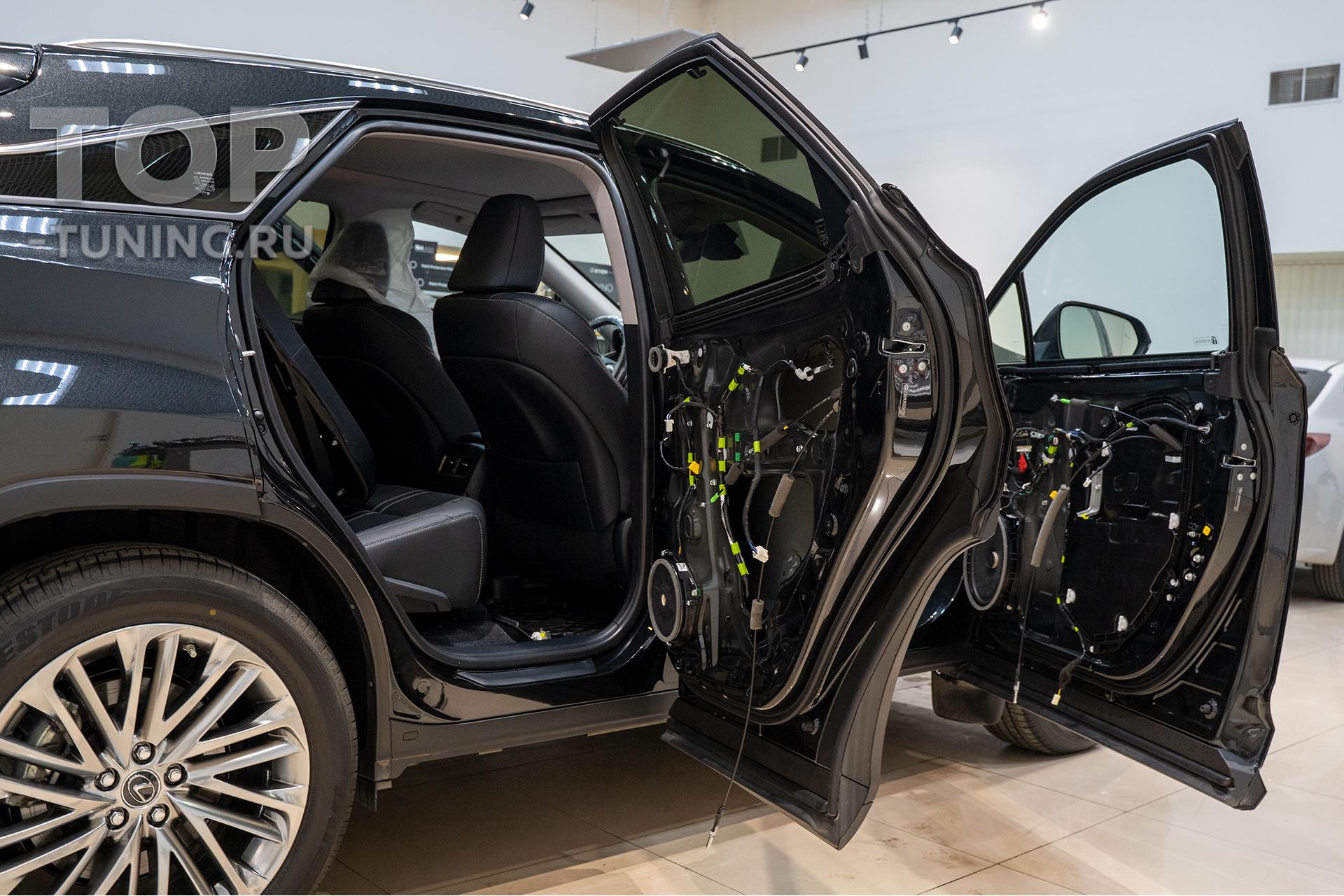 Дополнительные опции в Lexus RX - доводчики в двери, установка
