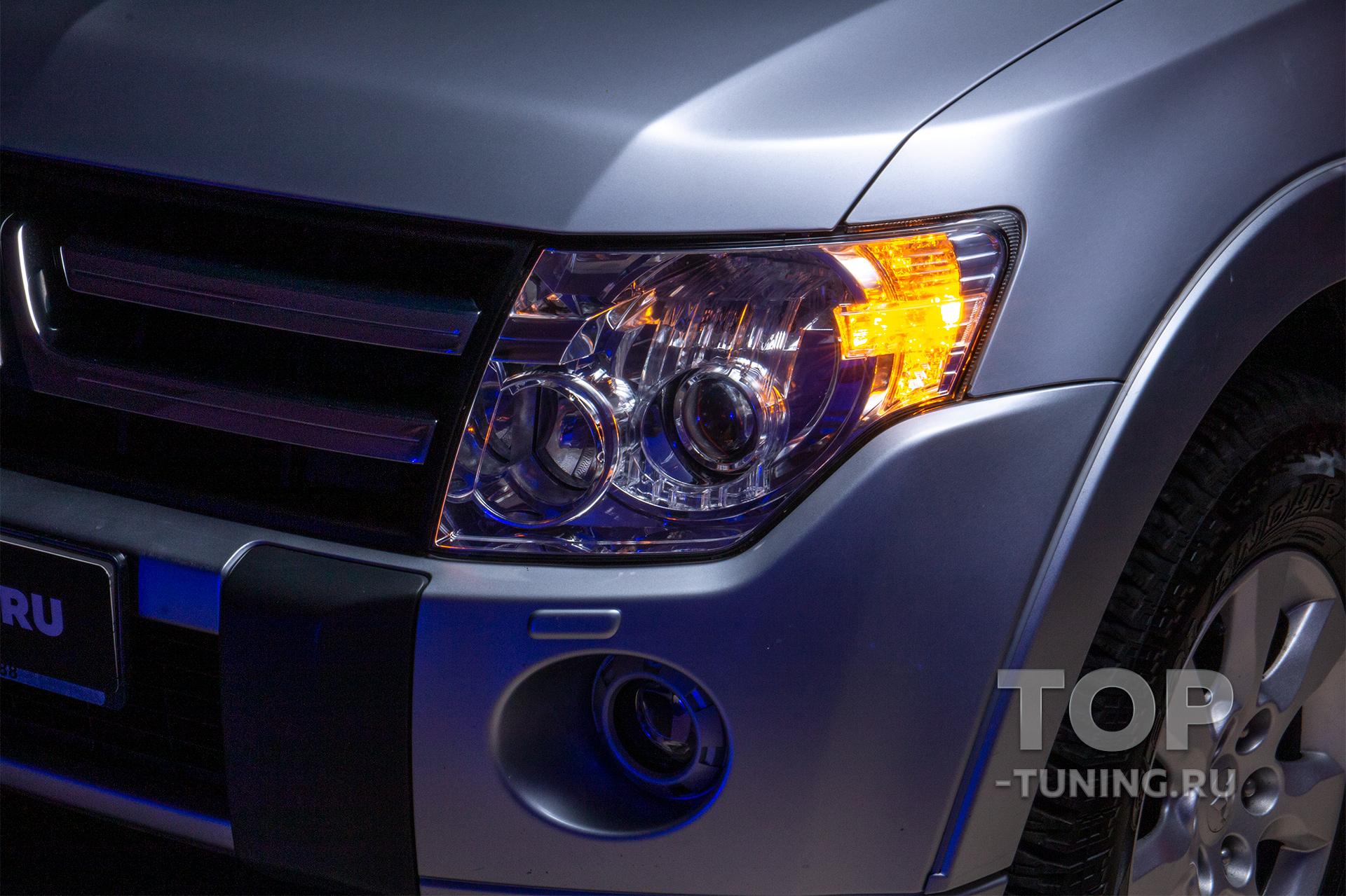 Митсубиши Паджеро 4 - LED поворотники в штатное место