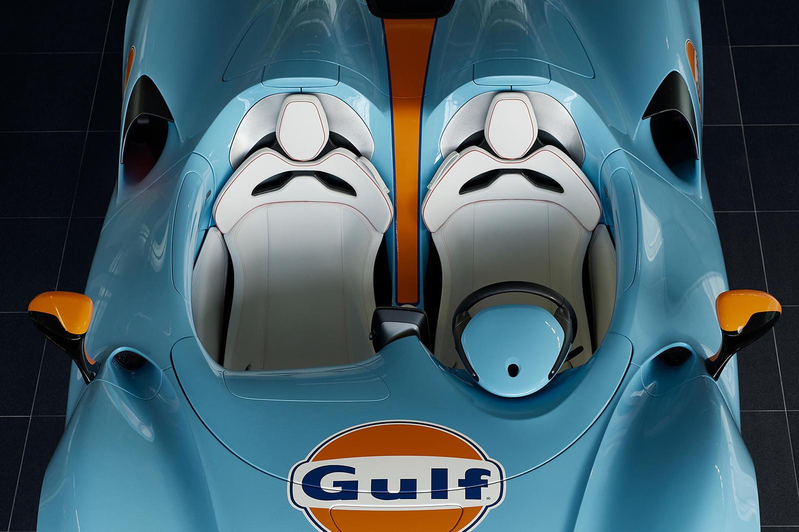 В июле этого года McLaren возобновил партнерство с Gulf Racing. Обнаружить спортивный автомобиль в ливрее Gulf Racing несложно, так как комбинация оранжевого и синего безошибочно узнаваема, поскольку ее использовали на таких McLaren, как F1 GTR, Ford