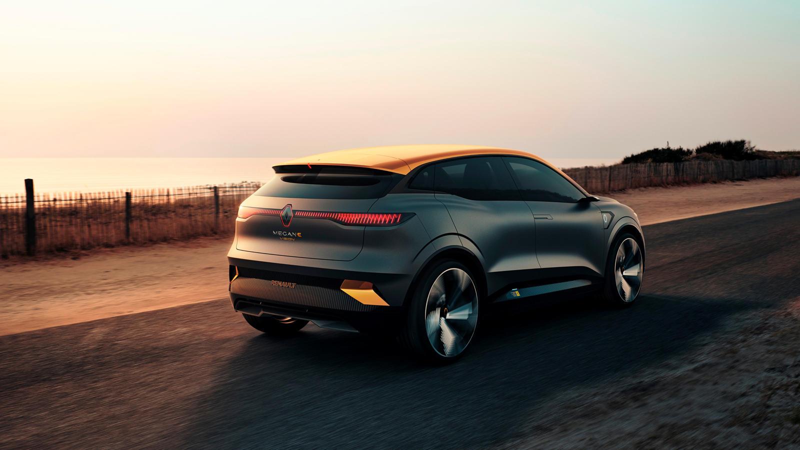 В Mégane eVision будет использоваться батарея емкостью 60 кВтч, а зарядка постоянным током мощностью до 130 кВт обеспечит лучшее в своем классе время зарядки. Выходная мощность рассчитана на 216 лошадиных сил. Внешний вид eVision вдохновлен концепт-к