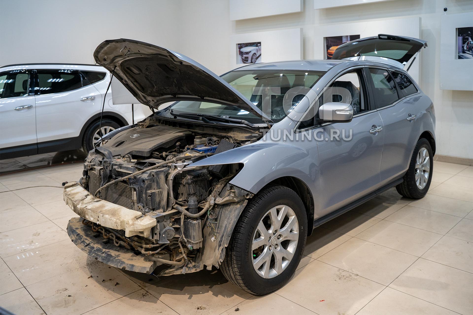 103888 Доработка оптики в Mazda CX-7 (замена линз) Bi Xenon