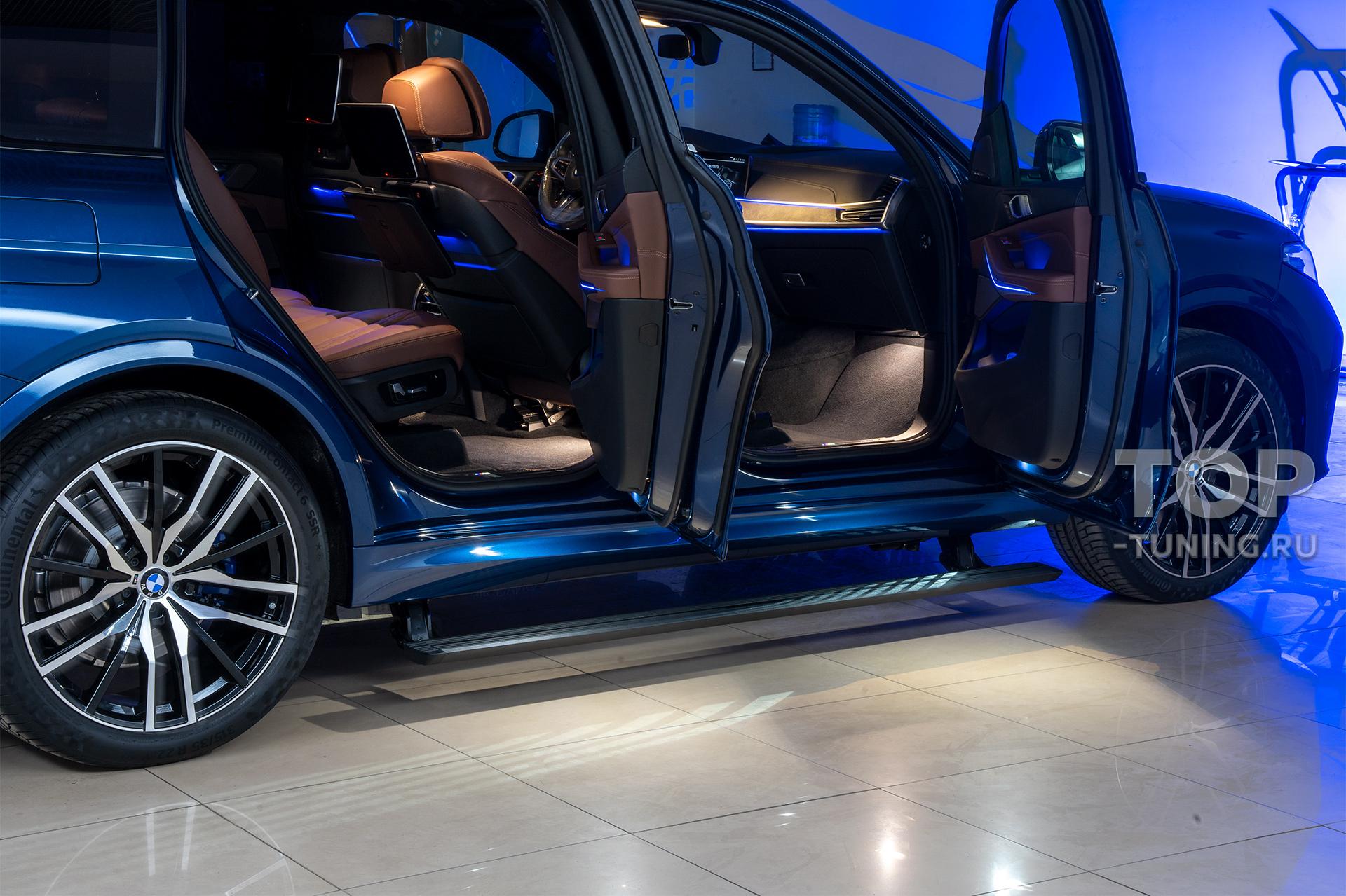 103903 Бронепленка и выезжающие пороги для BMW X7