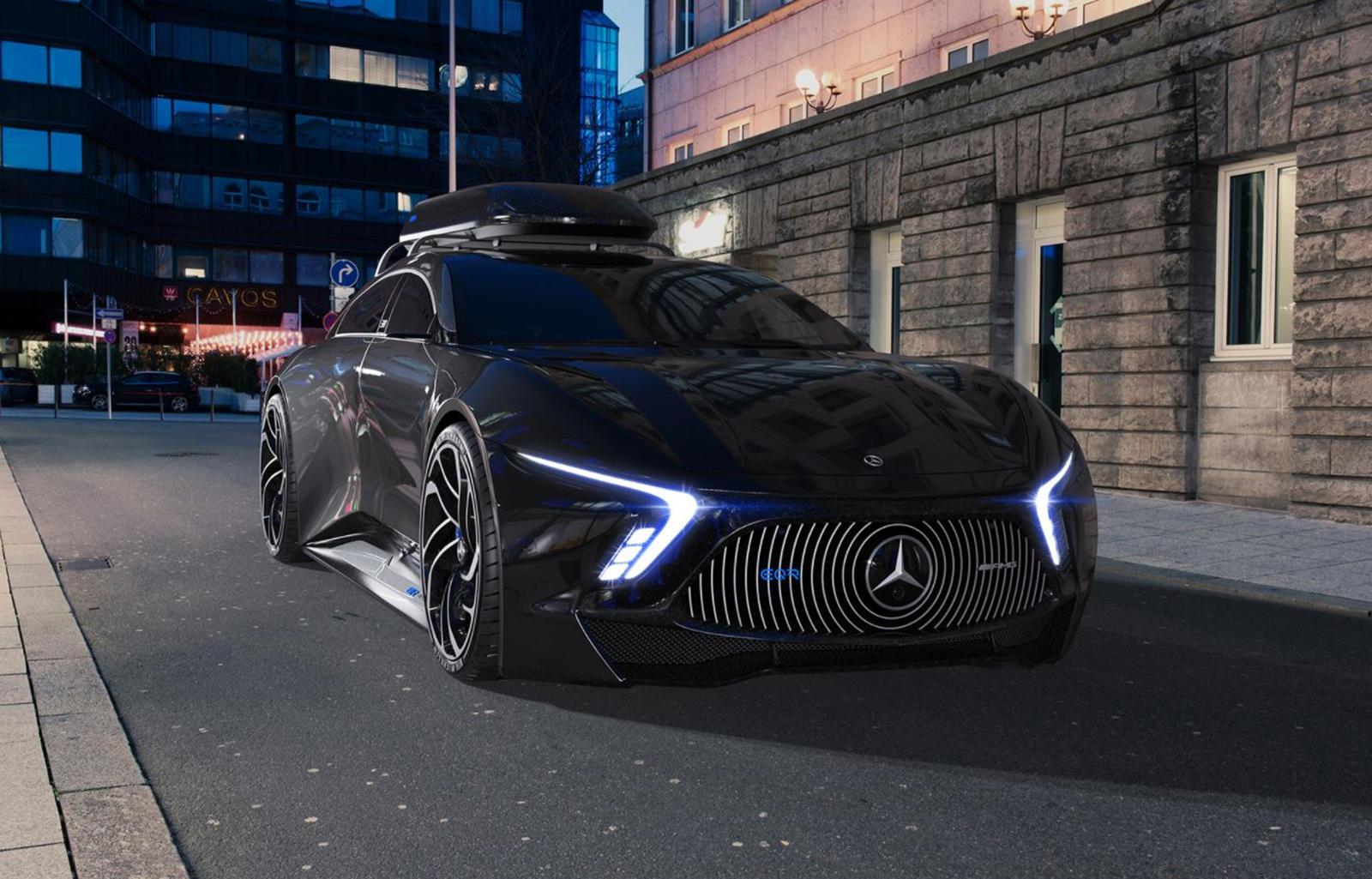 Боковой профиль EQR - самый привлекательный ракурс машины. Машина с низкой посадкой имеет небольшие окна, сильно расширенные колесные арки и накладки на пороги, которые будут повреждены на первом же лежачем полицейском. Колеса имеют крутой направленн