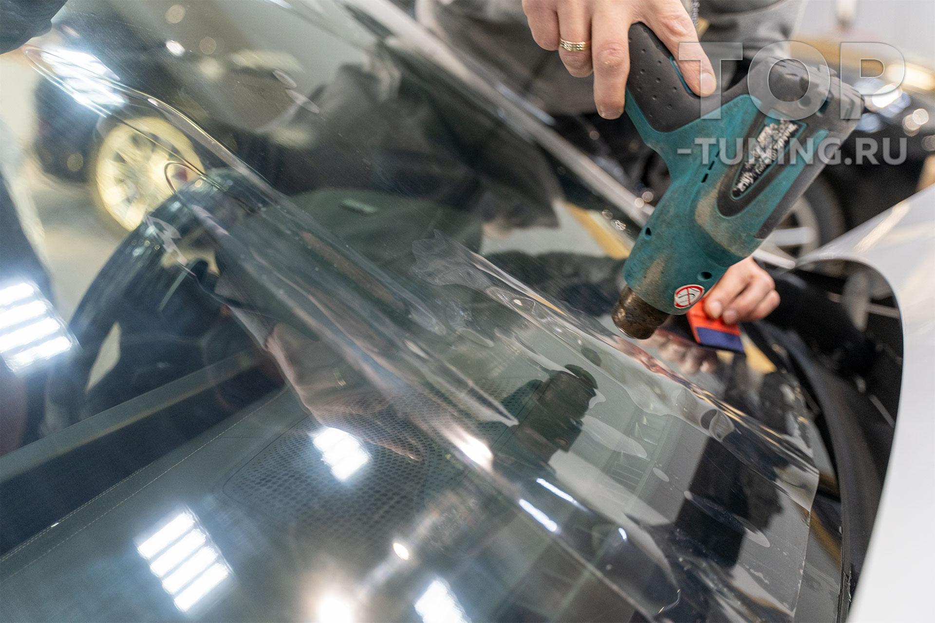 Бронирование лобового стекла. Защита от сколов и царапин. БМВ Х7. Москва.