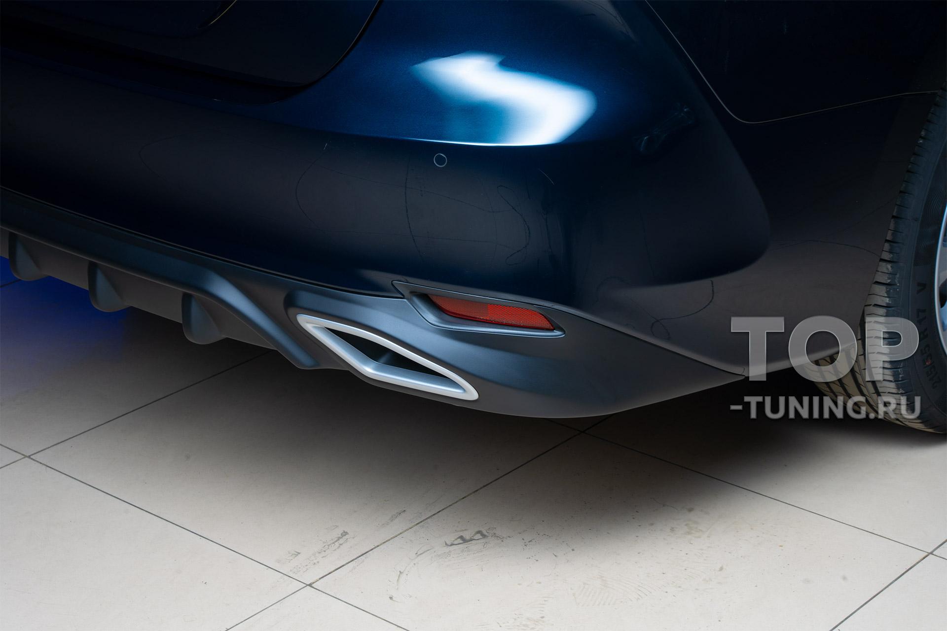 Накладка на задний бампер с имитацией выхлопа - обвес Consul Sport - Тюнинг Тойота Камри 70