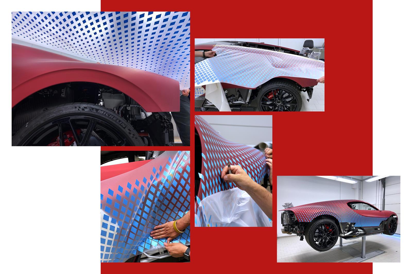 Йорг Грумер, руководитель отдела цвета и отделки в Bugatti Design, говорит, что «после многочисленных неудачных идей и попыток применить алмазы мы были близки к тому, чтобы сдаться и сказать: «Мы не можем удовлетворить запросы клиентов».