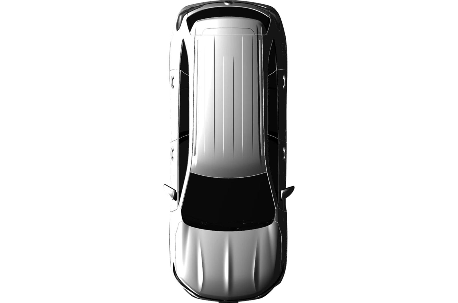 Смутное тизер-изображение подчеркивает более длинную колесную базу внедорожника, но просочившиеся патентные изображения дают нам представление о том, чего ожидать от дизайна.
