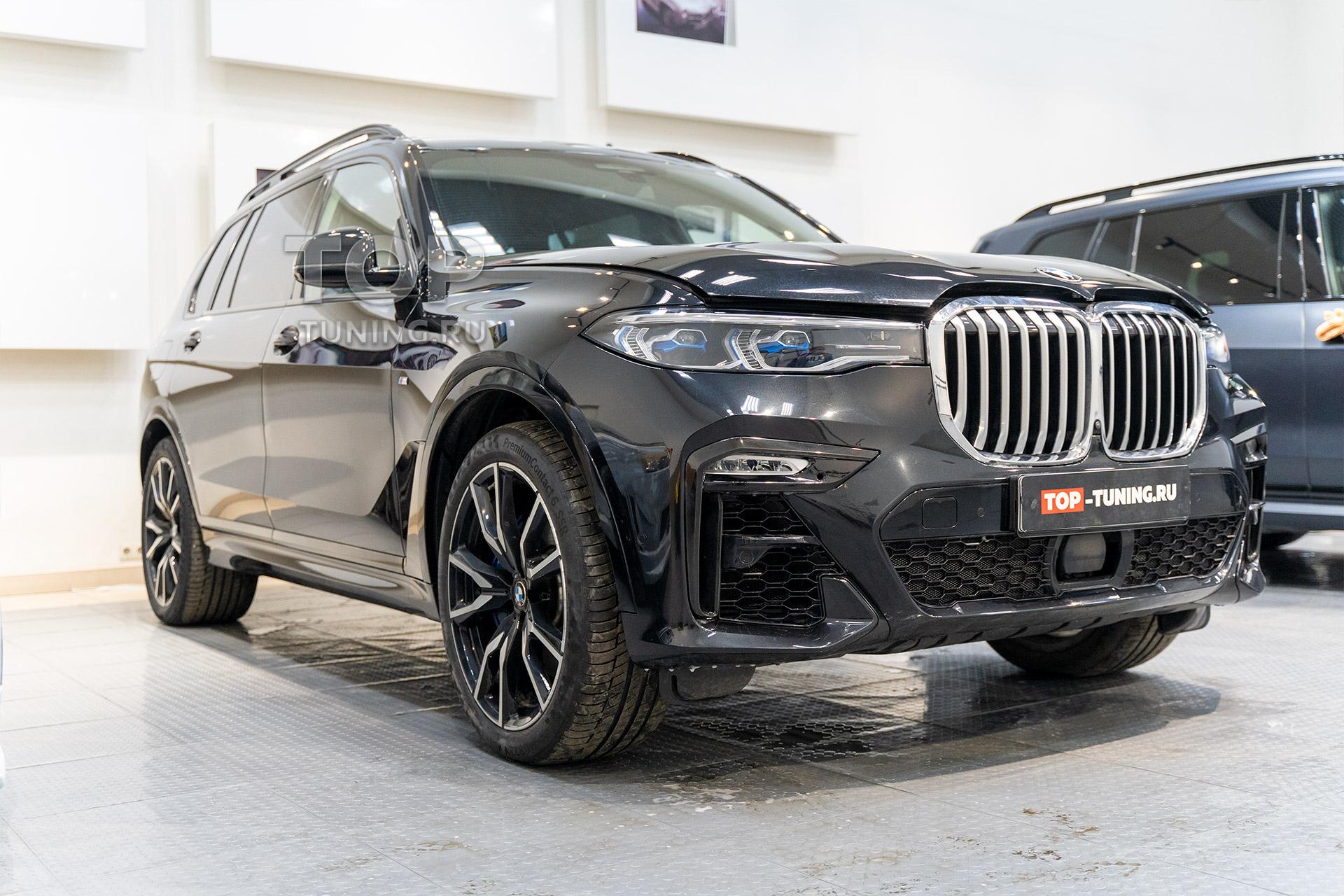 Новый BMW X7 G07 - тонировка лобового стекла и передних боковых