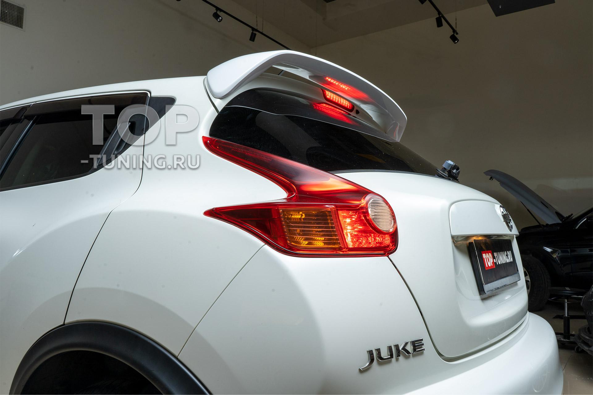 Nissan Juke - установка спойлера на крышку багажника