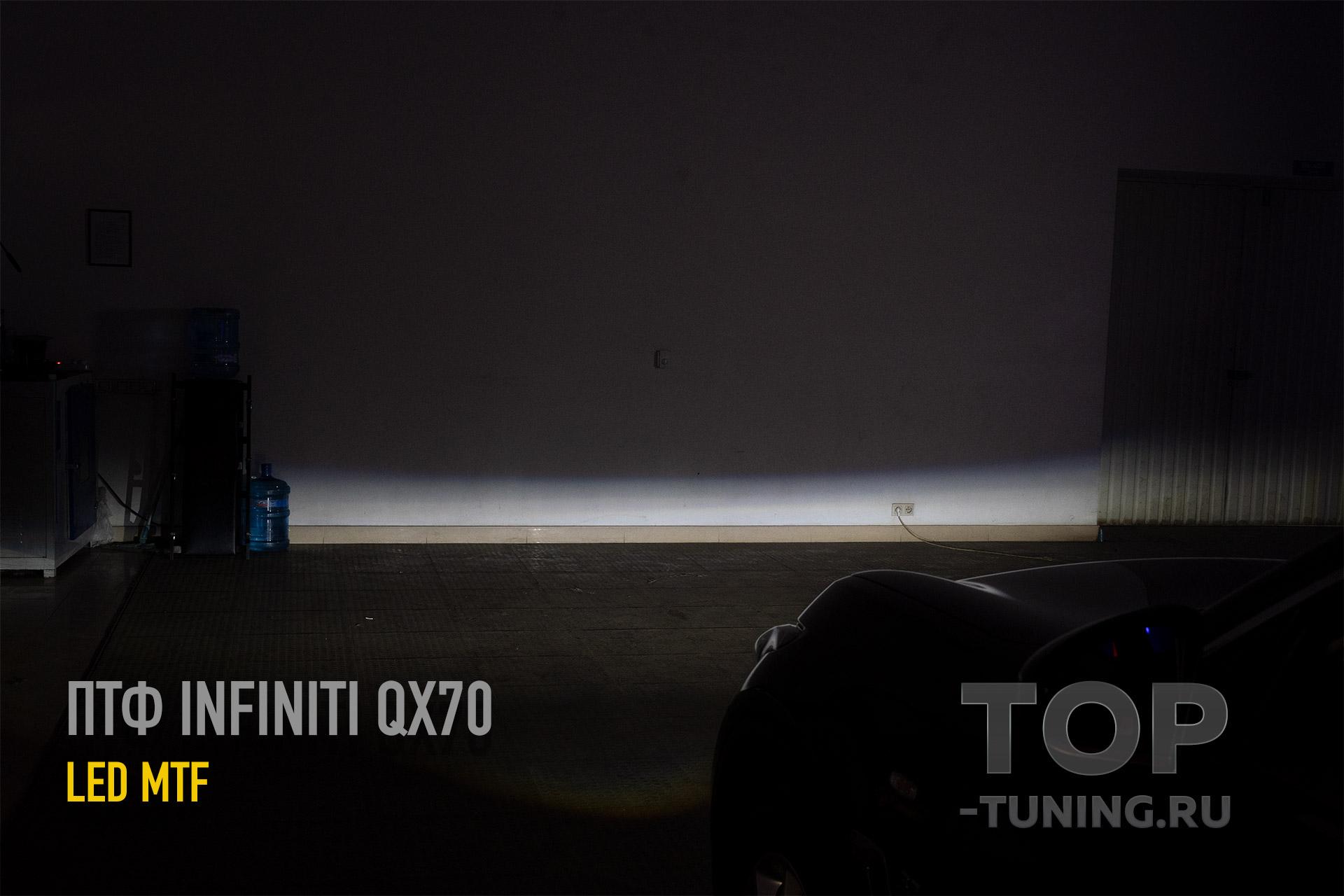 Светодиодные линзованные ПТФ MTF Light в Инфинити QX7 s51 (FX2)