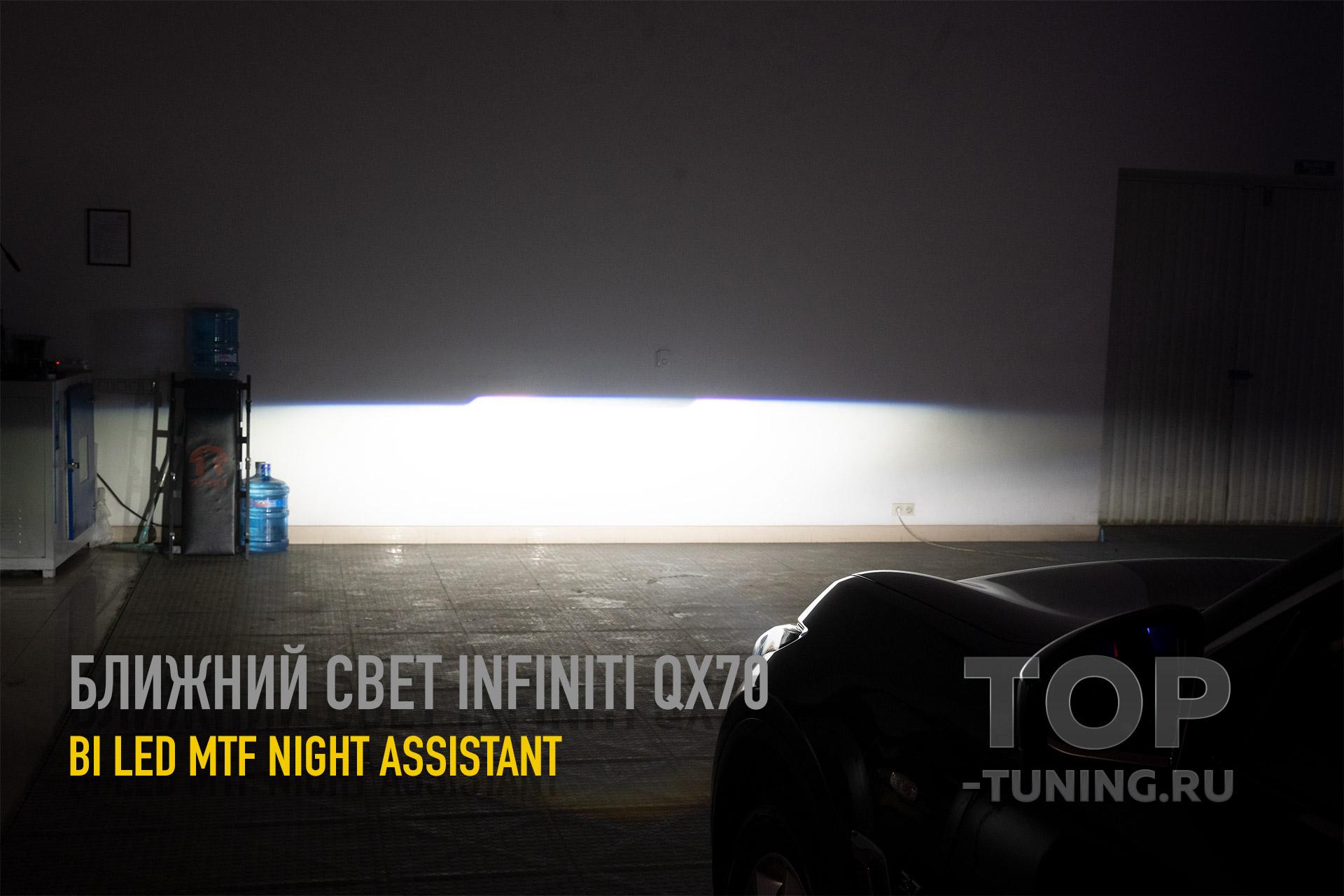 105714 LED вместо ксенона. Сравнение на Infiniti QX70 S51
