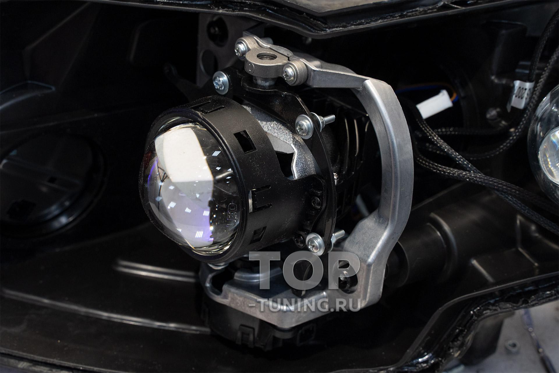 Замена линз в оптике Инфинити - светодиодные би лед линзы MTF Night Assistant