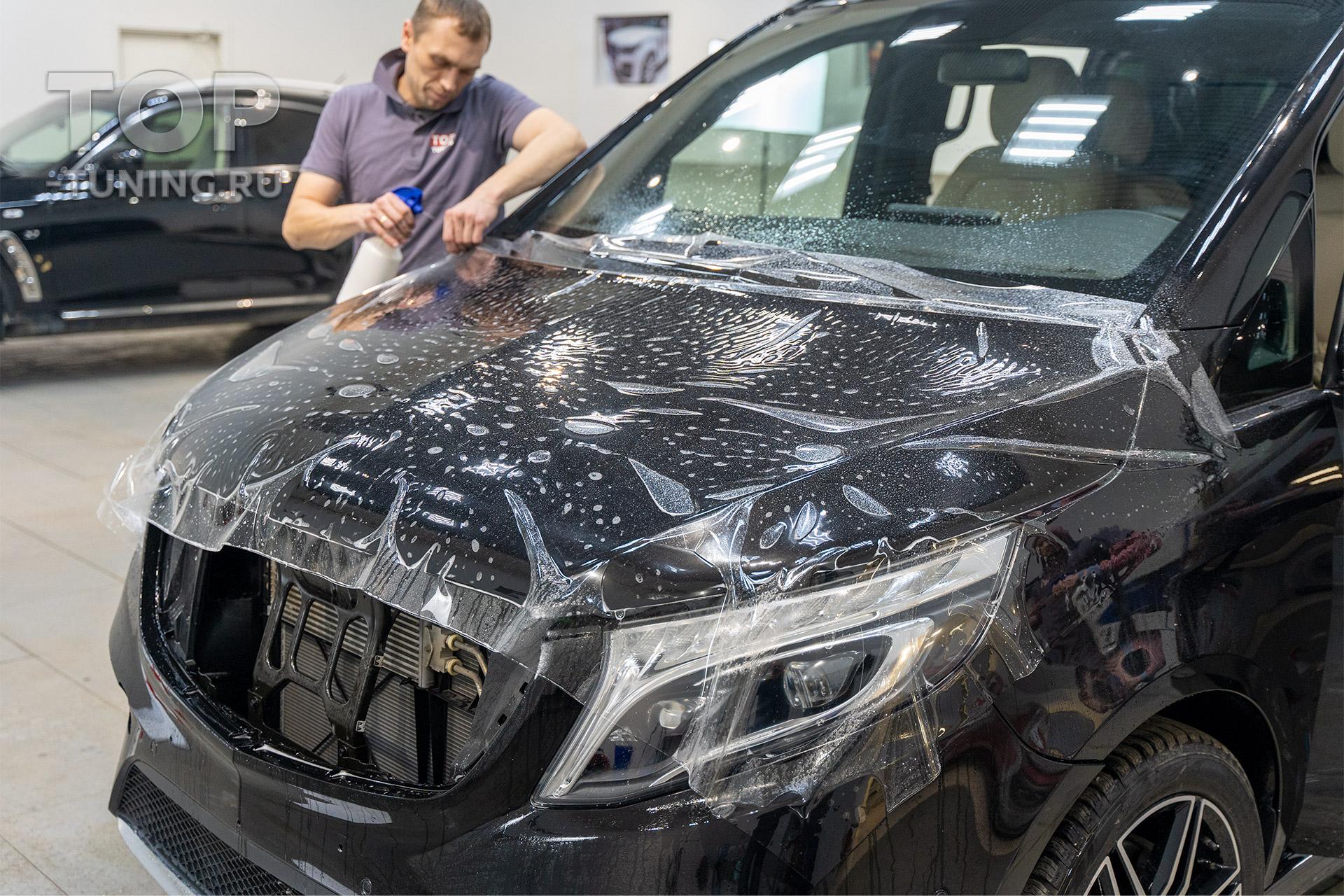 Зона риска - Защита от сколов и камней для Mercedes В класса, 447 XL