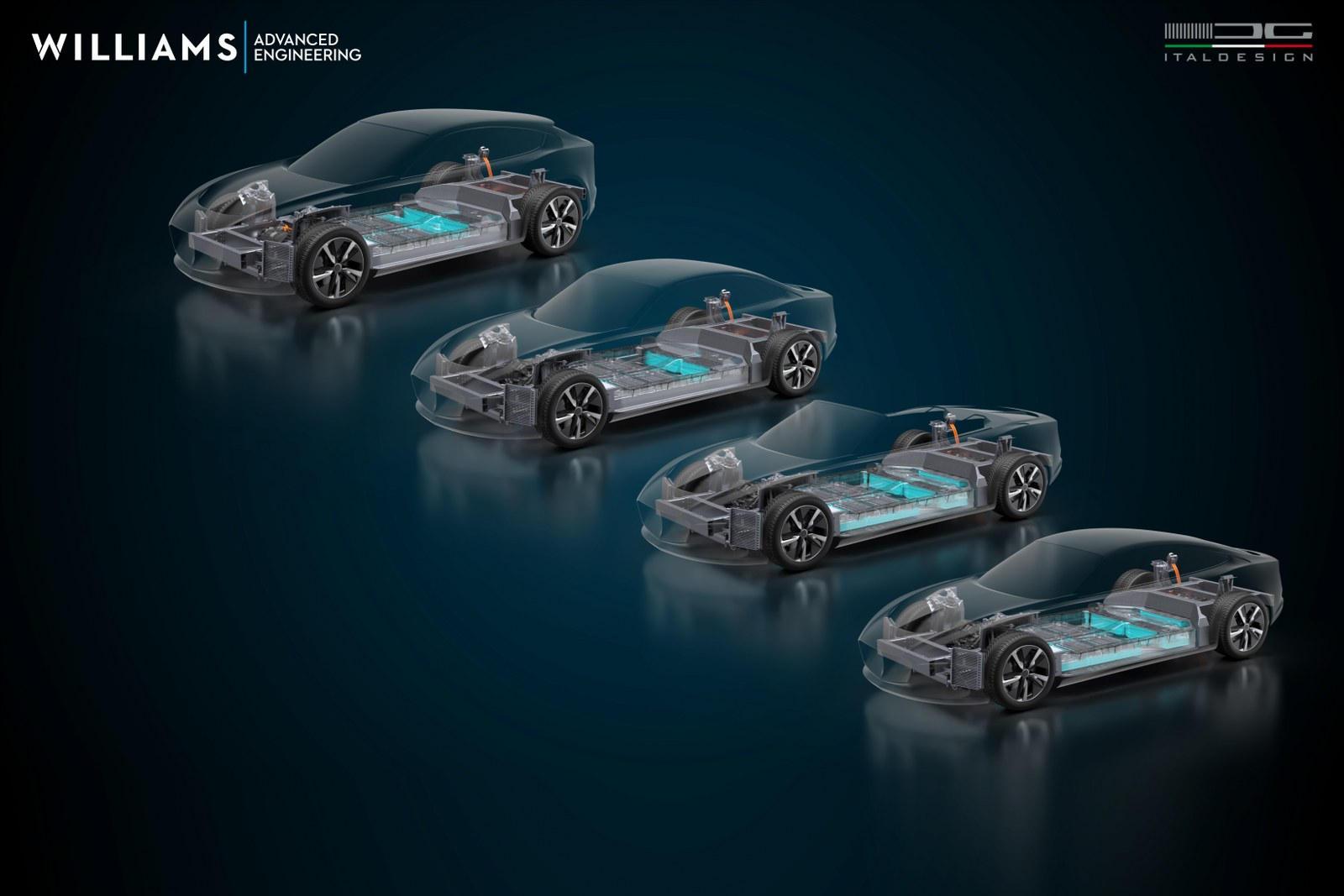 По сути, Williams создал лидирующую в своем классе платформу, которая жестче и легче, чем что-либо еще, и предлагает эту платформу всем, кто заинтересован, с Italdesign, доступной для стилизации автомобиля так, как этого захочет покупающий бренд.