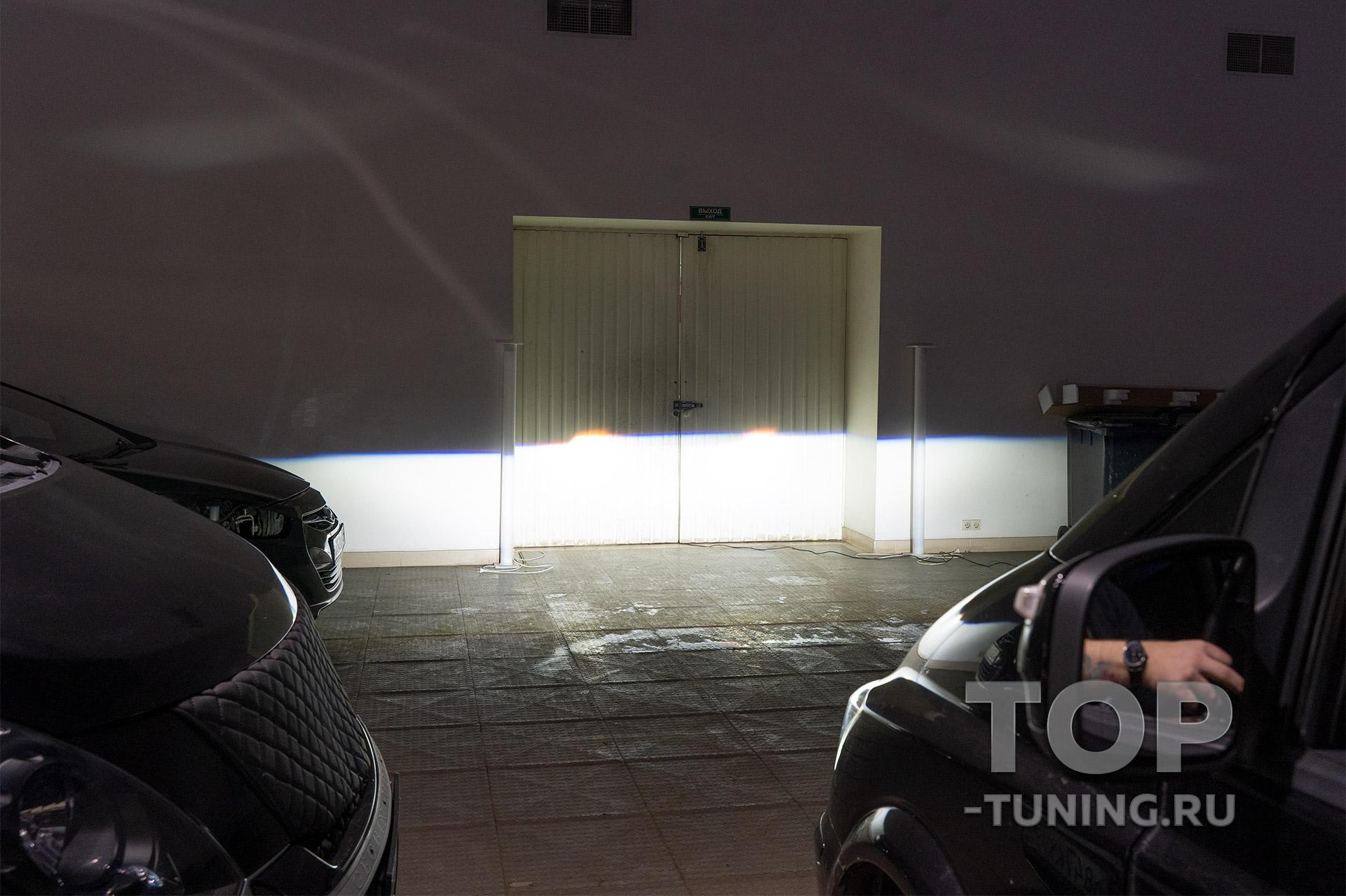 Ближний LED свет в штатные фары Mercedes-Benz Viano - новые линзы MTF Max Beam