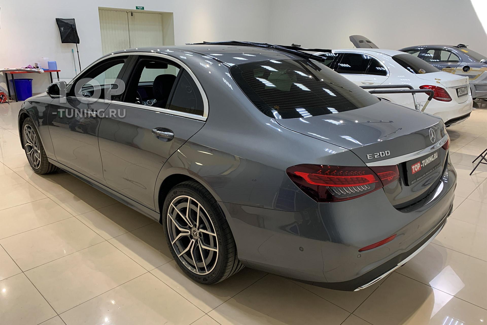 105751 Антихром, сетка в бампер и лип спойлер для нового Mercedes E class 2021