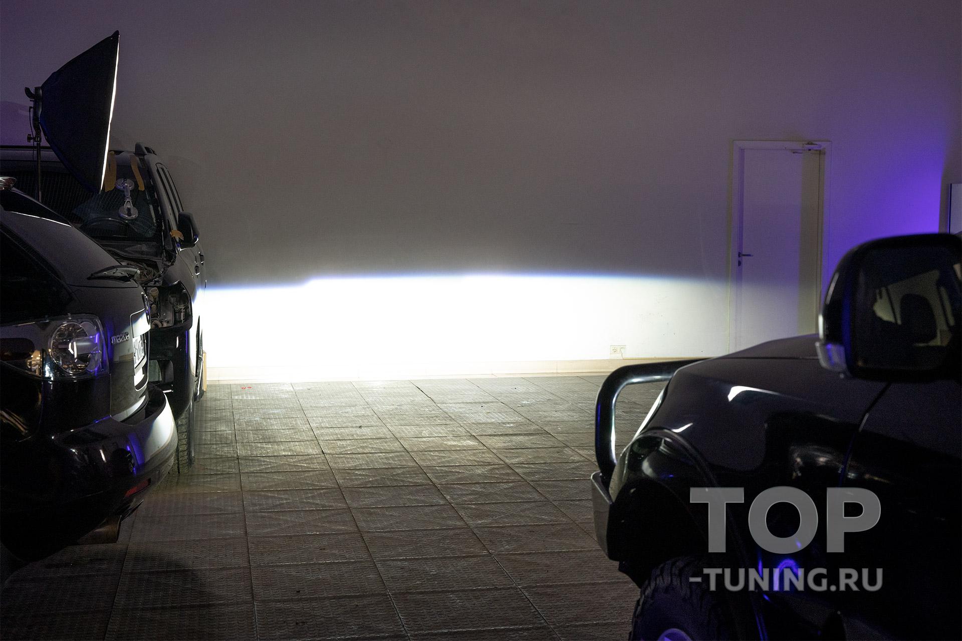 Ближний свет - Mitsubishi Pajero IV - Bi LED Night Assistant