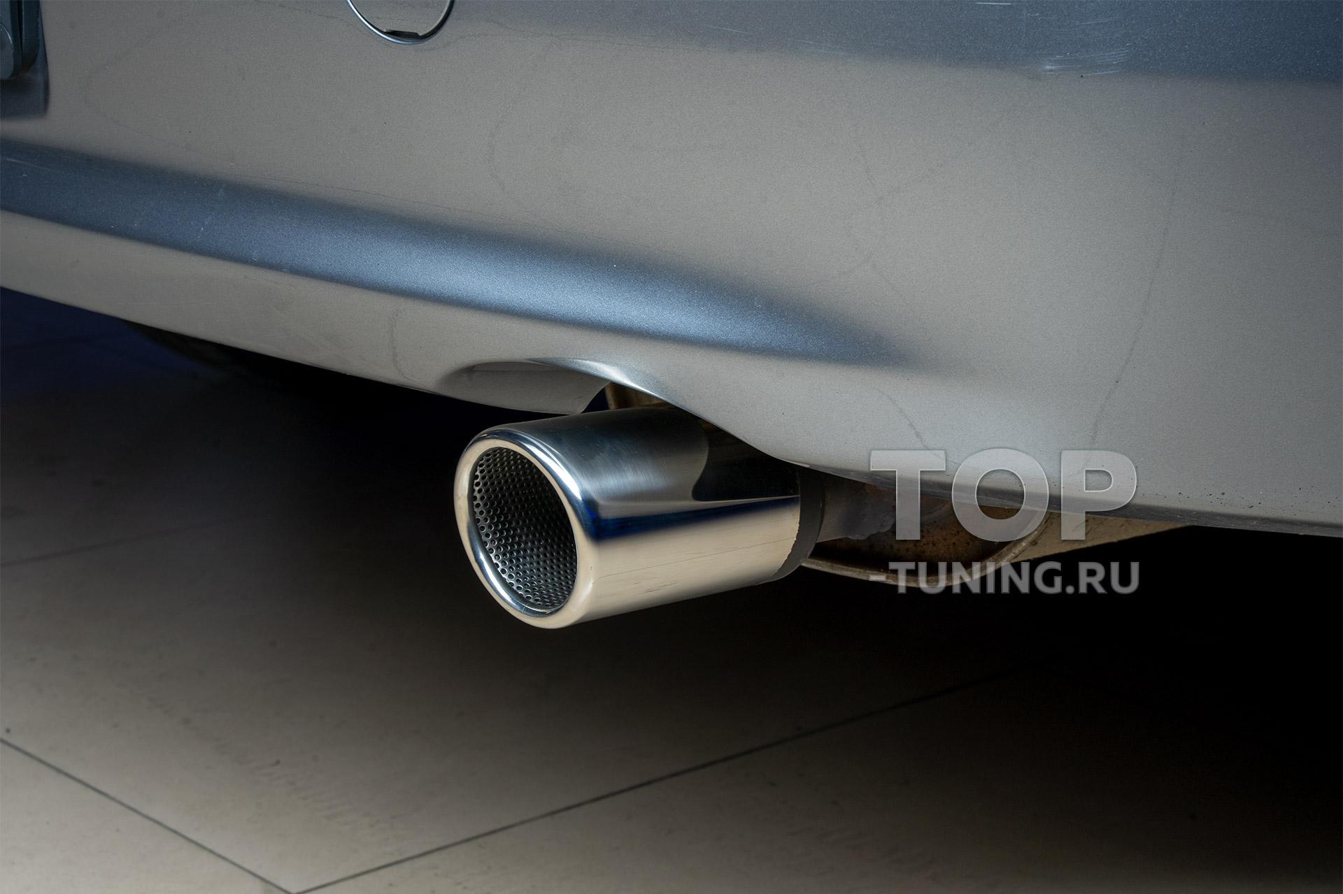 Установка насадки на глушитель Mitsubishi Lancer