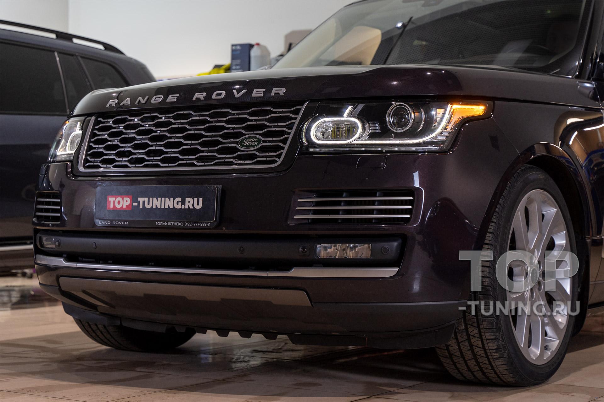 Тюнинг фар Range Rover Vogue SE 4 - Установка Би ЛЕД линз в штатную оптику