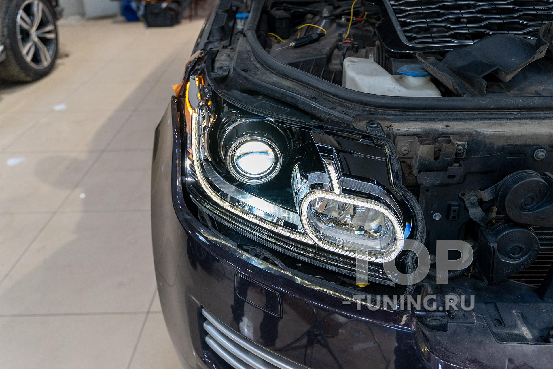 Регулировка фар после замены линз в Range Rover Vogue SE 4