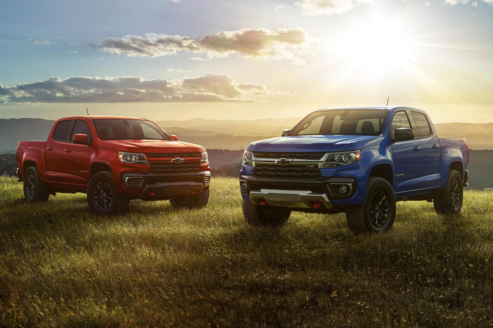 Косметические улучшения распространяются на эмблемы Colorado и Chevrolet в виде галстука-бабочки черного цвета, удаление передней воздушной заслонки и красные передние буксировочные крюки. Нам были показаны только передняя и боковые стороны автомобил