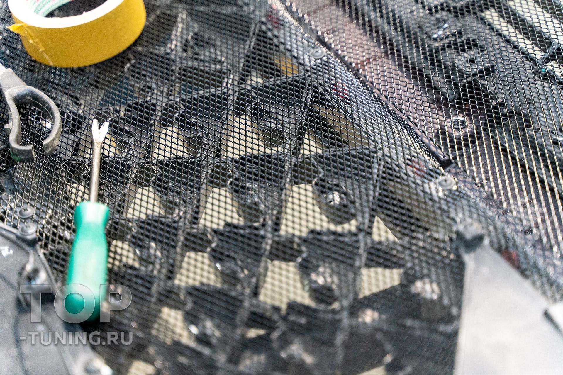 Сетка в бампер и решетку радиатора Чери Тигго 7 Про