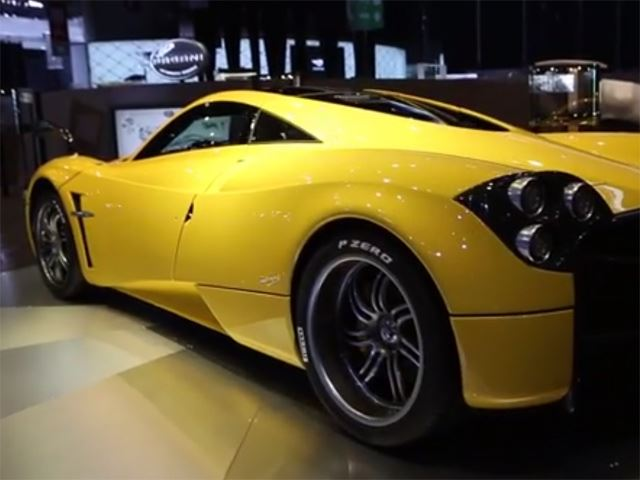 Pagani Huyara Yellow Edition