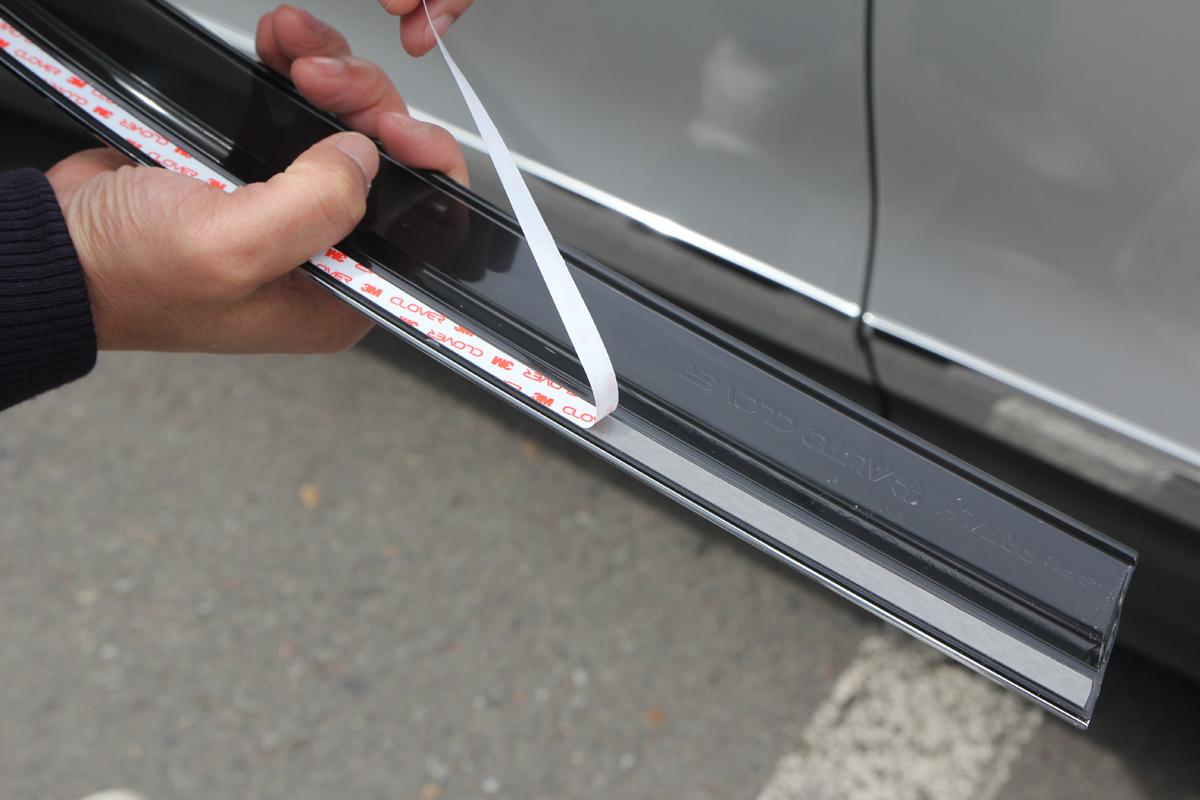 Установка дефлекторов окон - Hyundai Santa Fe DM
