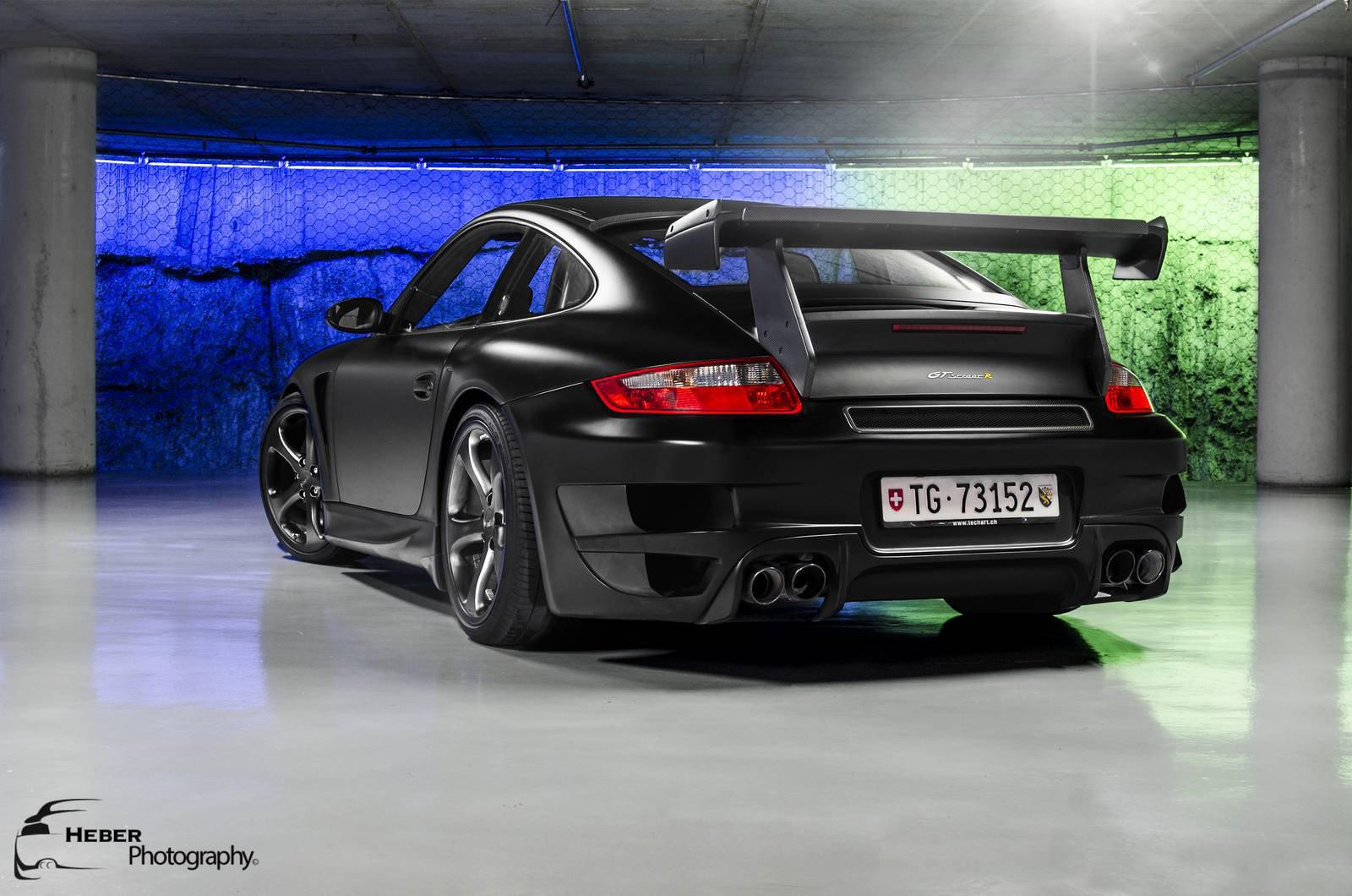 Porsche черная тюнинг загрузить