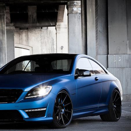 Синий матовый CL6 AMG от Royal 1 Motorsport