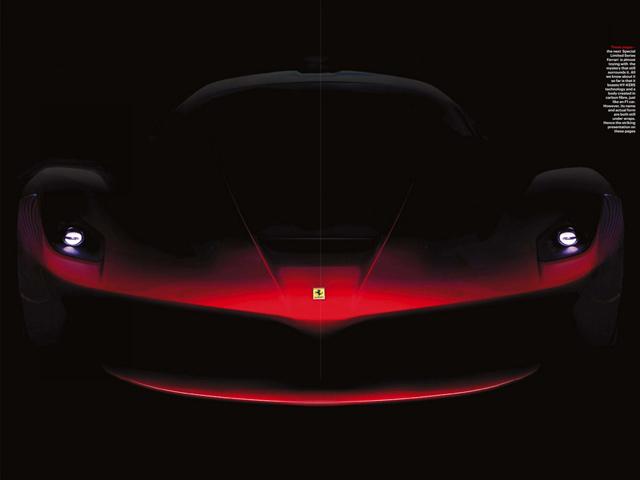 Ferrari представил изображения нового Enzo