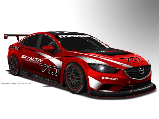Mazda 6 Grand Am Racer демонстрирует SkyActive-D