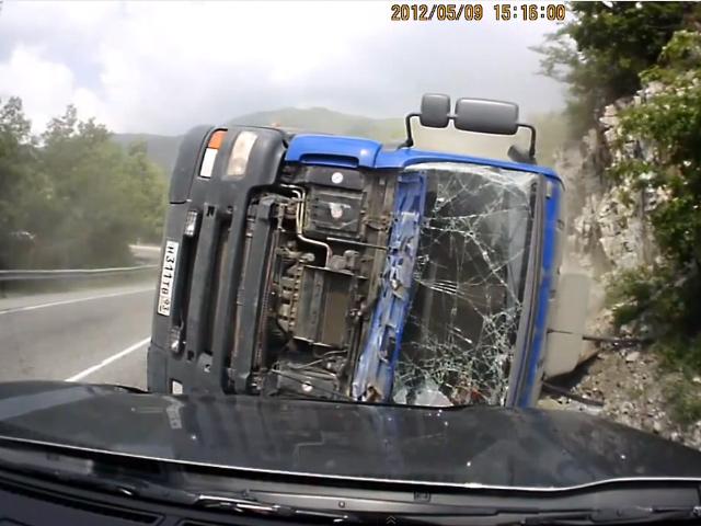 4 аварии с участием грузовиков, снятые на видеорегистратор