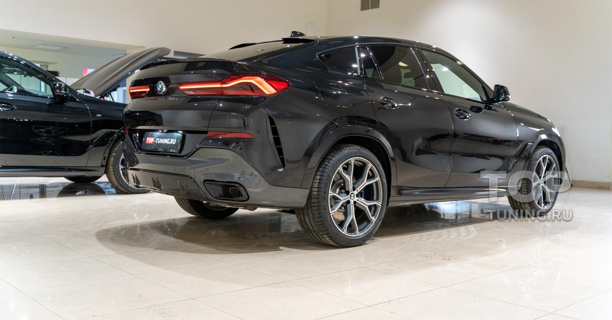 104053 Оклейка пленкой BMW X6, защита салона и черная решетка Iconic Glow