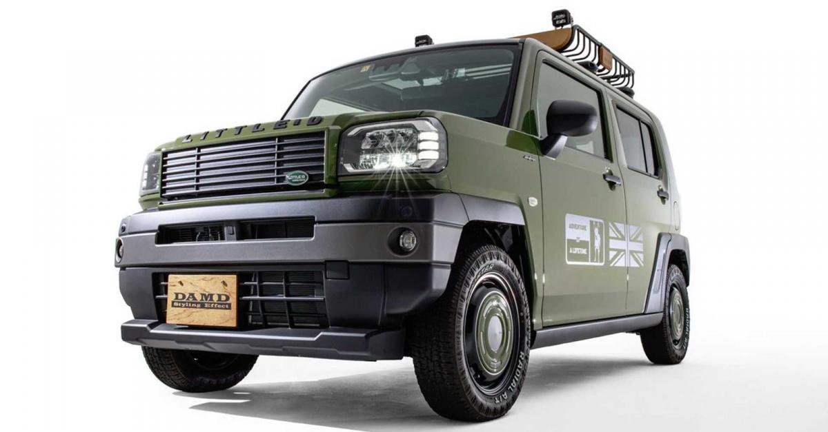 В передней части теперь есть новая решетка радиатора в стиле Defender и передний бампер, и даже крышка капота напоминает классические Defender, а логотип Little D напоминает фирменный знак настоящего Land Rover Defender. DAMD также предлагает большой
