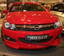 Юбка на передний бампер - Модель Rieger - Тюнинг Опель Астра H GTC