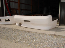 Задний бампер - Обвес Ориджин, тюнинг Ниссан Сильвия S14 (240SX). Под однотрубный выхлоп.