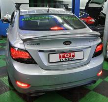 Задние фонари - Тюнинг Hyundai Solaris (седан), тонированная версия.